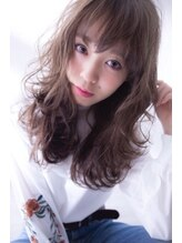 ヘアーメイク ブランニュー 東生駒店(hair make Brand new)【透明感のある質感】ヘーゼルベージュ+ゆるふわカール