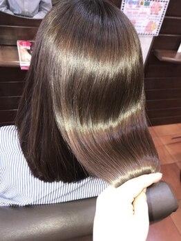 ヘアメイク ルポ(Hair make Repos)の写真/【大人気MENU☆アモストレート】クセの種類や状態に合わせた施術で、今までにない驚異の仕上がりを実感―。