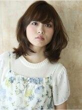 ハッチ ヘアーファクトリー 東松山店(hacchi Hair Factory)ショコラカラーでツヤ感アップ、上品な女らしさをゆる巻きで
