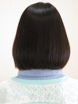 美容室ミミ(MiMi)の写真/季節ダメージや乾燥で広がるクセ毛をサラサラに♪【女性限定★カット+縮毛矯正+トリートメント¥12000~】