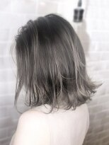 オーブ ヘアー アムール 学芸大学店(AUBE HAIR amour)【AUBE HAIR】外国人風カラー_外ハネボブ