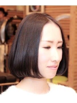 ヘアーメイク ダンス(hair make DANCE)さりげなくオシャレ☆ダークグレー ボヴ☆