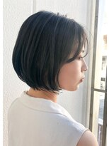 キアラ(Kchiara)黒髪でも可愛いショートボブ【福岡大名kchiara小宮晴香】