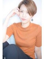 【morio池袋】大人かわいい小顔アシンメトリーショート