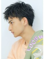 【LIPPS原宿】アップバング ツーブロック 黒髪 簡単スタイリング