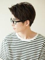 アフロート ディル(AFLOAT D'L)AFLOAT《矢田菜津紀》メンズ好感度メガネが似合うショート◎髪型
