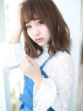 アグ ヘアー ガール京都駅前店(Agu hair girl)フェミニン☆耳かけフリンジバング