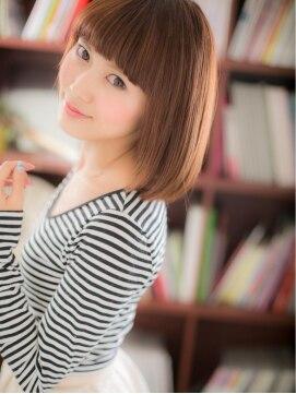 カバーヘア ブリス 戸田公園西口店(COVER HAIR bliss)*+COVER HAIR+*…まっすぐバングで可愛い☆サラサラ小顔ボブa