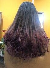 ヘアースペース サイ(Hair Space SAI)ピンクバイオレット バレイヤージュ