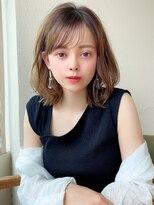シェルハ(XELHA)アフロート斎藤 ひし形ミディ シースルーバング 20代30代髪型
