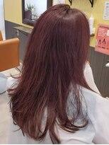 オトナ可愛いピンクアッシュカラー