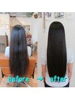 イロ(ilo)アイロンを使わない縮毛矯正で自然なストレートヘアになります
