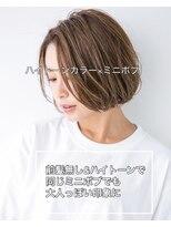 ユーフォリアギンザ(Euphoria GINZA)20代30代40代前髪大人かわいいミニボブショートボブ 担当畑