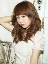 モニカ 横須賀中央店(Monica)大人かわいいセミロング巻き髪スタイル