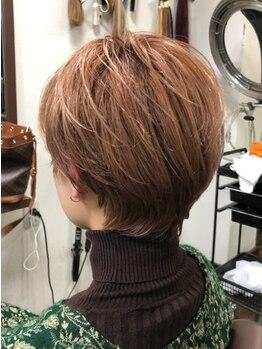 ヘアーズ ベリー 川西店(hairs BERRY)の写真/【川西能勢口駅すぐ】似合わせカット¥2200☆トレンドのショート・ボブで印象を変えてより魅力的な貴方に◎