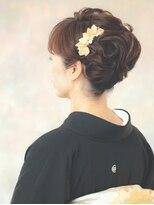 和装のヘアセット★黒留袖の着付とヘアセット