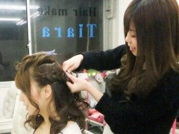 ヘアーメイク ティアラ(Hair make Tiara)の写真/北口徒歩30秒セット専門店【Tiara】《ヘアセット¥1500~》センス抜群の女性staffが担当★口コミ高評価多数