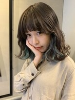 ジーナ(XENA)浅葱色インナーカラー
