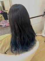 ジア ヘアーアンドネイル裾カラー ブルー