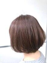 マルカ(marca)【Color Style】 王道やわらかピンクブラウン × 王道ボブ