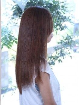 ヘアーサロン ラフィネ(hair salon Raffine)の写真/ツヤツヤさらさら★ウォーターストレートでナチュラルな美髪に♪ぱさぱさしないダメージレスな縮毛矯正!