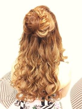 結婚式 髪型 ロングヘアアレンジ  ダウンスタイル