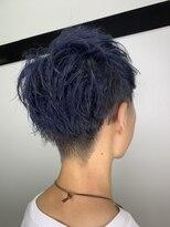 wealstar hair design メンズブルーショートレイヤー