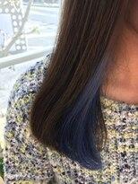 ★インナーカラー×ブルー★