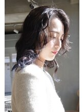 はな(hana)黒髪×ラベンダーカラー×グラデーションカラー
