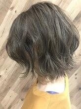 プログレス 小手指店(PROGRESS)エアリーミディ/ショートパーマ/黒髪/ホワイトアッシュ/所沢