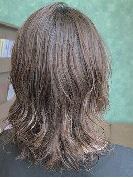 アンブル ヘアデザインアンドヒーリング 喜多町店(Amble hair design&healing)の写真/夏のオススメはゆるめウェーブ☆下ろしても上げてもまとめてもOK!アレンジも自由自在に楽しめる♪
