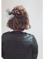 アリス ヘア デザイン(Alice Hair Design)Alice☆チュールドット×ハーフボブアレンジ