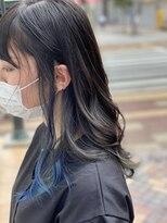アプリ バイ リアン 浦和(appri by Rien)インナーカラー ブルー