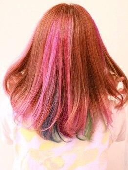 ヴィオラ 秋葉原(Viola)の写真/ダメージレスにこだわった個性派カラー☆インナー・ダブルカラーなど髪質やデザインに応じて思いのまま♪