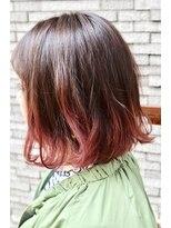 ヘアーデザイン キャンパス(hair design Campus)【おしゃれ裾カラー♪】クリアブラウンXチェリーピンク