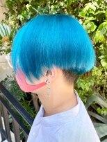 シンゴナカムラ ヘアカラーサロン(SHINGO NAKAMURA HAIR COLOR SALON)クレイジーカラー★ターコイズブルー 自然光Ver.