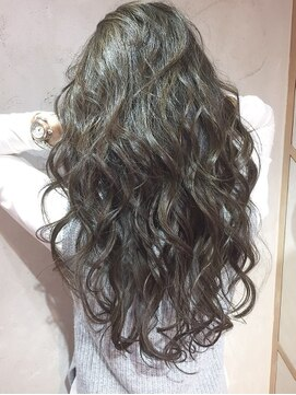 オーブ ヘアー ルル 京都四条通り店(AUBE HAIR lulu)しっかりカール♪グレージュ