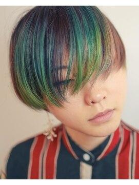 ニコヘアー(niko hair)前髪ポイントカラー★ショート