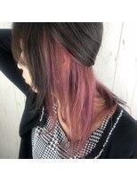 【インナーカラー☆】ピンクって可愛いよね♪