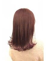 ヘアーアイスカルテット(HAIR ICI QUARTET)ピンク 切りっぱなしボブ