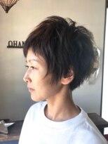 オハナヘアー(ohana hair)ボーイッシュになりすぎない丸みのあるショートヘア