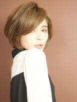 ベックヘアサロン 広尾店(BEKKU hair salon)ワイドバングで女性らしい前下がりショートボブ!モーブカラー