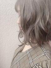 ワット 新宿店【美髪外ハネボブ/担当田辺 】ブリーチなし♪グレーベージュ