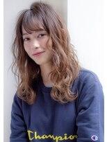 ルージュ(Rouge)【米倉和寿】小顔 無造作カール セミディレイヤー