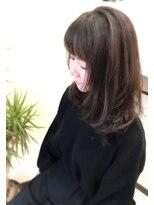 ヘアメイク イアラ 高柳(hair make iara)セミロングパーマ 大人編