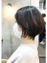 エトネ ヘアーサロン 仙台駅前(eTONe hair salon)ひし形シルエットショートボブ20代30代40代