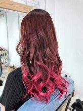 アイボリーヘアワークスアンドエステティック(Ivory Hair works Esthetic)pinkグラデーション