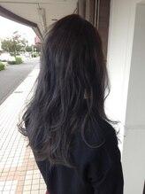 ヘアデザイン グリッター(hair design GLITTER)クリアブルーアッシュ♪