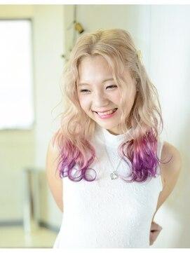 アティック ヘアーデザインアンドリラクゼーション(attic hair design&relaxation)ピンク・パープル☆