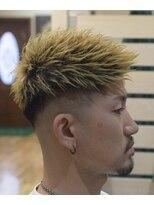 金髪ジェット×スキンフェード